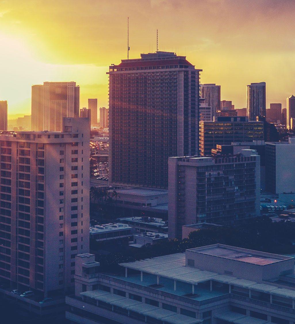 Downtown Metropolitan Aerial View